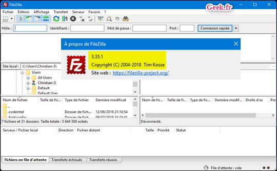 filezilla-3.35.1-accueil