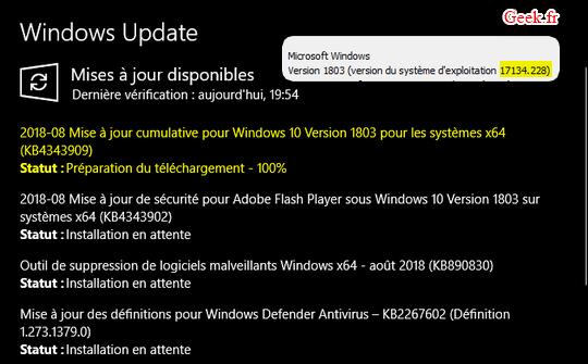 windows-10-KB4343909-accueil